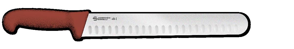 Affettare punta tonda lama alveolata