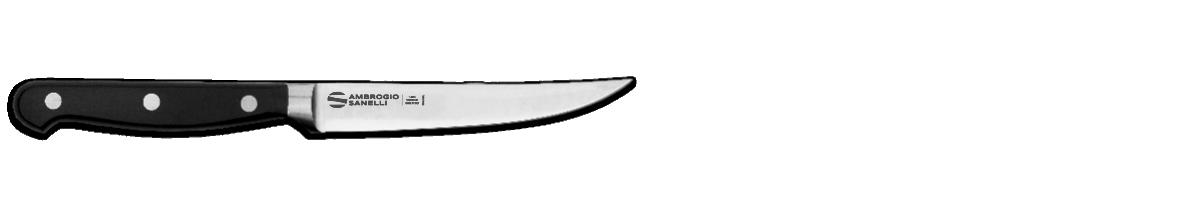 Coltello costata, lama liscia forgiato