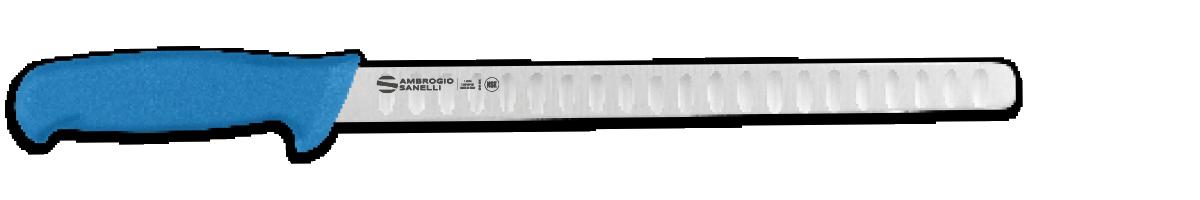 Coltello salmone, lama alveolata